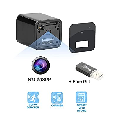 Hidden Camera - Spy Camera Adapter- 1080P HD USB Wall Charger Motion Detection Loop Recording Free Flash Transfer Stick Security Surveillance Your Home Office (Hidden Camera Charger) from PKBQUEEN