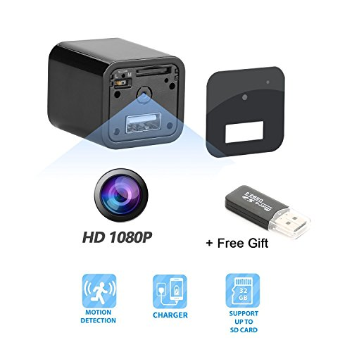 Hidden Camera – Spy Camera Adapter- 1080P HD USB Wall Charger Motion Detection Loop Recording Free Flash Transfer Stick Security Surveillance Your Home Office (Hidden Camera Charger)