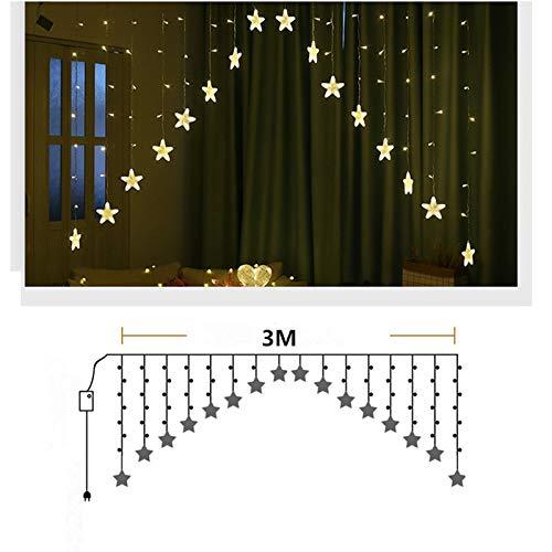 Nachtlicht Led Star Curtain String Lichter Weihnachtslicht Girlande Led Hochzeit Home Party Geburtstag Girlande Dekoration