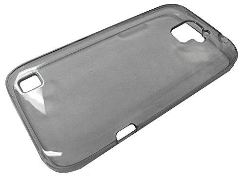 For ZTE JASPER LTE TPU Crystal Flexible Skin Phone Cover Case + Gift Stand (TPU ()