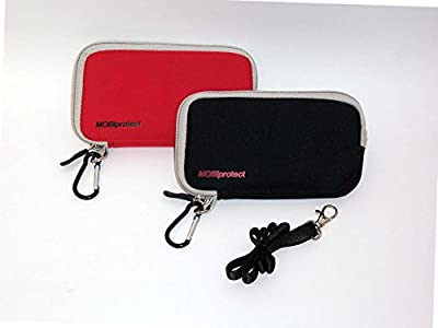 EMF and RF Protective Case for Mobile Phone (Large, Red)
