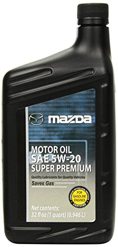 Genuine Mazda Fluid (0000-77-5W20-QT) SAE 5W-20 Super Premium Motor Oil - 1 Quart Bottle