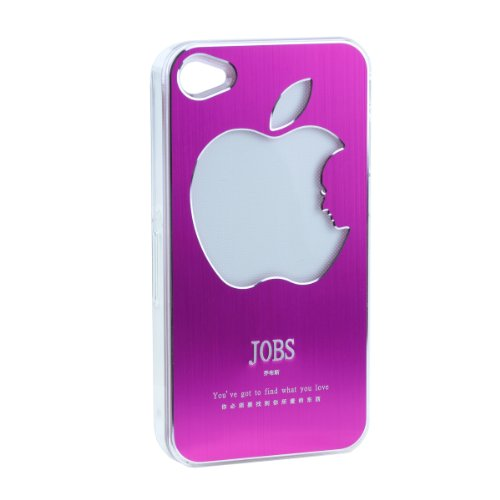 Apjobs Logo LED Rgb Color Change Cover Case for Iphone 4s 4 (Pink)