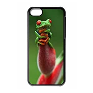 Frog Use Your Own Image Phone Case for Iphone 5C,customized case cover ygtg531334
