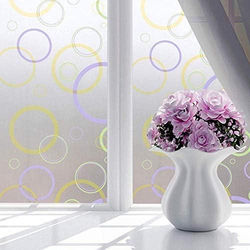 ガラスフィルム窓フィルム防水曇り不透明ガラス窓フィルムカバー窓ガラスステッカー寝室用ホームデコレーションフィルム、90×150センチ