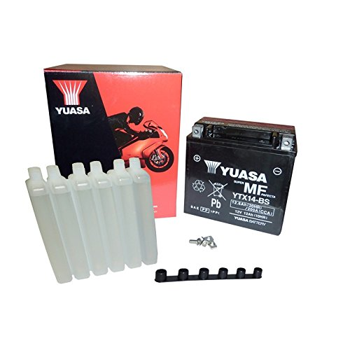 Yuasa YTX14-BS - Baterí a con paquete de á cido, 12 V Yuasa Battery EU YTX14-BS -Y
