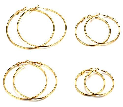 4mm Vermeil Hoop Earrings - 6