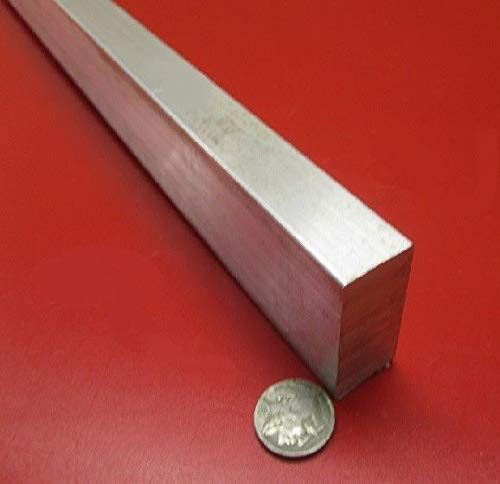 JumpingBolt 6061 T651 Aluminum Bar, 7/8'' (.875'') Thick x 1 1/2'' Wide x 36'' Length Material May Have Surface Scratches (Diamond 0.875')