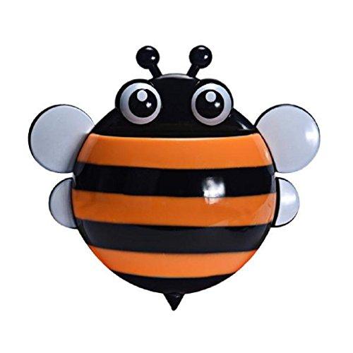 Kreative Nette Biene saugstark Zahnbürste Zahnpasta Halter (Orange)