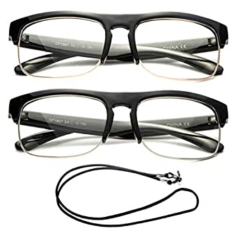 Amazon.com: Newbee Fashion- Half Frame Retro Over Size