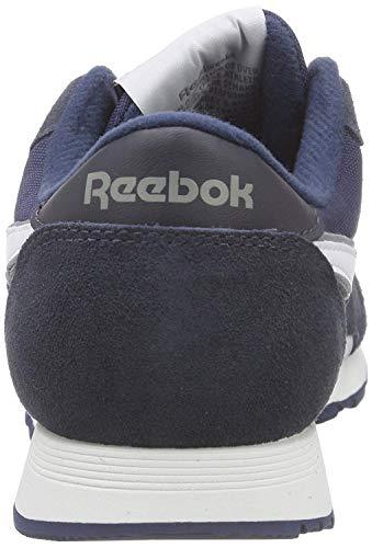 Reebok team Da Blau Marineblau Unisex Leather Classic Scarpe Corsa adulto platinum nAxa6wABqp