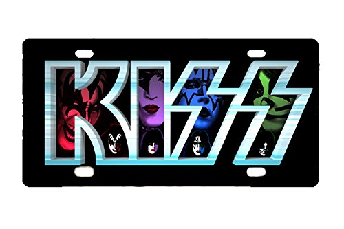 Band Plate Service (Panda Rock Band Kiss custom Metal License Plate for Car 12 inch X 6 inch)