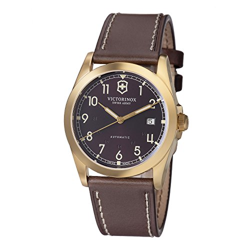 Victorinox Men's 241646 Infantry Mechanical Brown Dial Brown Leather Strap Watch