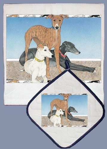 Greyhound Dish Towel
