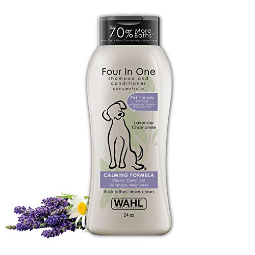 Formula Coat Pet Shampoo - Wahl 100% Natural Pet 4-in-1 Lavendar Chamomile Shampoo #820000T