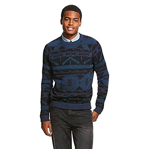 Men's Varsity Crew Sweater Siam Blue - Mossimo Supply Co (Medium) (Mossimo Supply Co For Men)