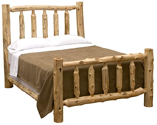 Fireside Lodge Furniture 10040 Traditional Cedar Queen Complete Bed (Bedroom Furniture Lodge Style)