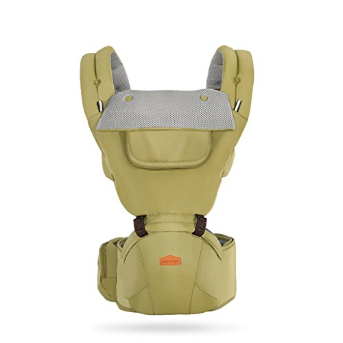 Four Seasons Breathable Baby Belt Waist Stool, Portable Removable Seat, Adjustable Stereo Backpack, Baby Carriage, 1202023cm, Load-Bearing 20kg by Zhengfangfang