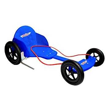 Kiddimoto Kids Boxkart Wooden Go Kart - Blue: Amazon ca: Electronics