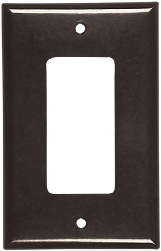 (Eaton 2051B Mid-Size 1-Gang Decorator GFCI Wall Plate with Box, Brown Finish)