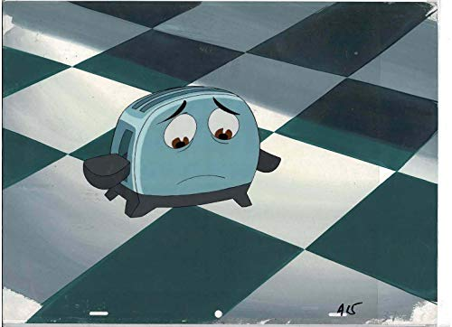 The Brave Little Toaster: Goes to Mars Original Animation Production Cel With Production Background