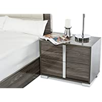 Limari Home Lim-17399 Braden Right Facing Nightstand, Grey