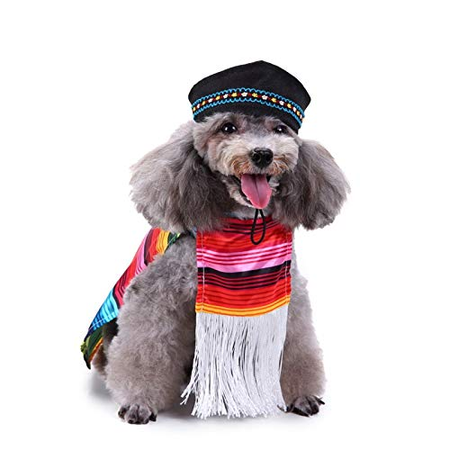 TOOGOO Pet Costume, Mexican Christmas Clothes Creative Funny
