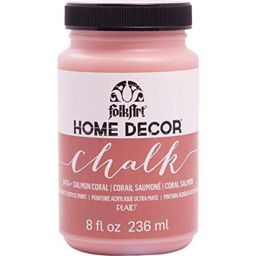 FolkArt 34154 Home Decor Chalk Furniture & Craft Paint in Assorted Colors, 8 Ounce, Salmon Coral