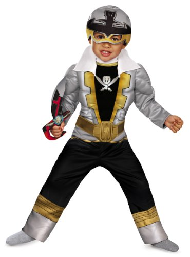 Special Ranger Silver Super Megaforce Toddler Muscle Costume