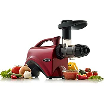 Omega NC800 HDR 5th Generation Nutrition Center Juicer, Red