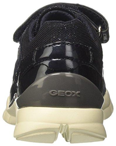 Geox J Sukie a, Zapatillas Para Niñas Azul (Navy)