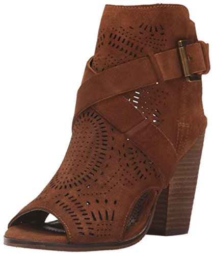 Naughty Monkey Women's Zuzanna Ankle Bootie, Light Tan, 6 M -