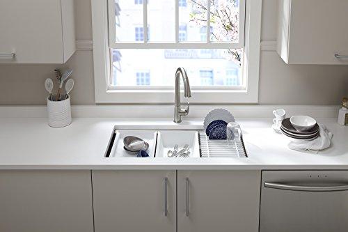 KOHLER K-5540-NA Prolific Undermount Single Bowl Kitchen Sink With Accessories, 33 X 17-3/4-Inch
