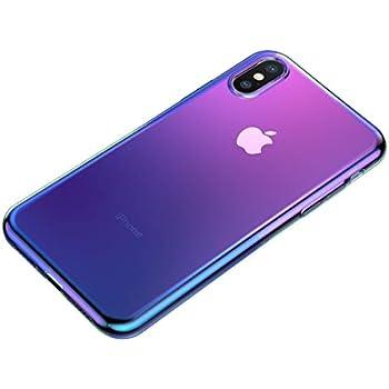 ef0add05561 Funda Case iPhone X | XS Glow Tornasol Slim Transparente Slim Ultra Delgada  Premium (Tornasol)