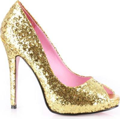 Ella Glitter Pumps Adult Shoes Gold - Size -