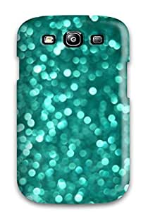 Faddish Phone Glittery Blue Green Case For Galaxy S3 / Perfect Case Cover