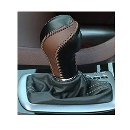 - Genuine Leather Automatic at Gear Shift Knob Cover Protector Trim Fit Infiniti FX35 QX56 QX80 QX70 QX50 Q60 Q40 FX37 EX37 EX25 IPLG G25 (Black+Brown Leather)