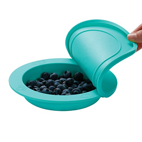 oogaa Home Baby and Toddler Feeding Bowl High-Grade European Tested Silicone, Jewel Blue