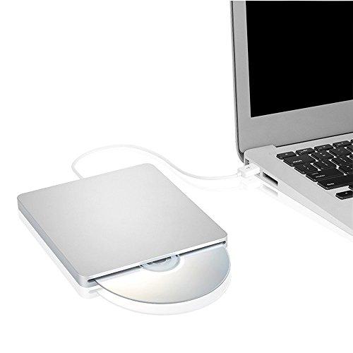 DVD CD Drive Burner Superdrive DVD-R Player for All System 98SE ME 2000 XP Vista Win7 for Apple Mac Macbook Pro/ Air iMac (Silver) (Dvd R Macbook Pro)