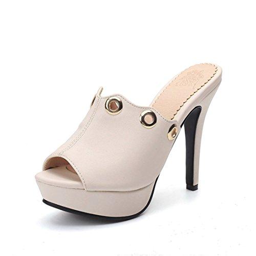club rosa DEDE pantofole tacco sexy Sandalette alto super pantofole 36 semplice le pantofole moda qI7xwxngR