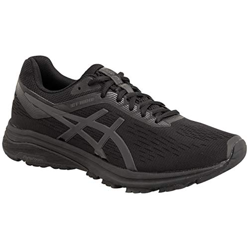 ASICS GT-1000 7 Men's Running Shoe, Black/Phantom, 10 4E - Running Inserts Shoes Asics