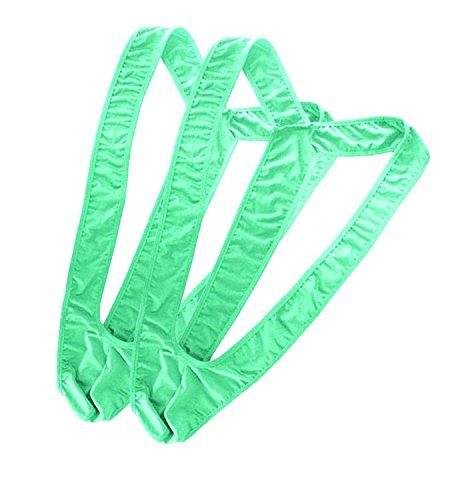 [Olens Set Of 2 Mens Borat Mankini Underwear Costume Swimsuit Thong Halloween Christmas Gift (2 x Green)] (Borat Bathing Suit Costume)