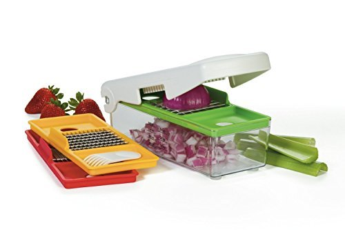 Fry Stir Slicing Set (Vidalia Chop Wizard Pro - SLICES, DICES AND CHOPS - 30% More Chopping/Dicing Area Than Other Brands. Extra Large Capacity)