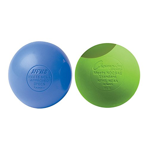 Champion Sports Lacrosse Balls (2-Pack) Blue Green