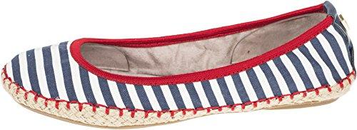Bailarinas Navy 040 Stripe para Mujer Butterfly 009 BT21 Gigi Twists White nxwCtxq18X