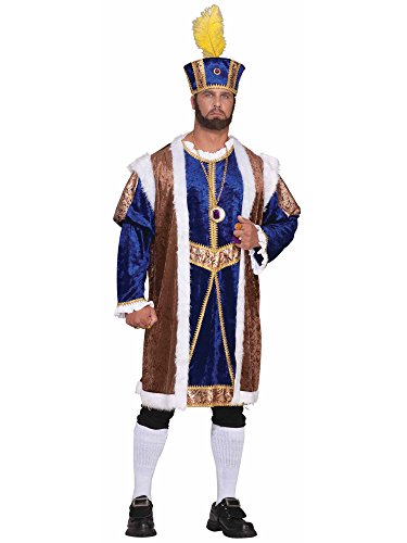 Forum Novelties Men's Plus-Size Extra Big Fun Henry The Viii Costume, Multi, 3X-Large