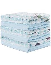 Yoofoss Muslin tvättlappar baby tvättlapp set 6-pack mjuka och absorberande ansiktshanddukar 30 x 30 cm för spädbarn, barn och vuxna