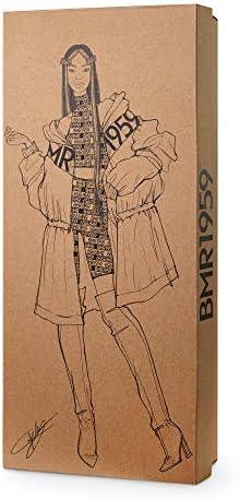 Barbie-BMR1959 Bambola Mora Snodata con Trench Giocattolo per Bambini 3+Anni, GNC47