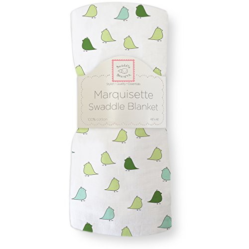 SwaddleDesigns Marquisette Swaddling Turquoise Chickies