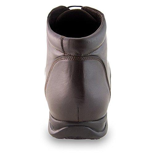 Masaltos Scarpe con Rialzo da Uomo Che Aumentano l'Altezza Fino a 7 cm. Fabbricate in Pelle. Modello Flex Nature B Marrone